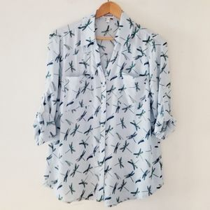 Express top with dragonflies